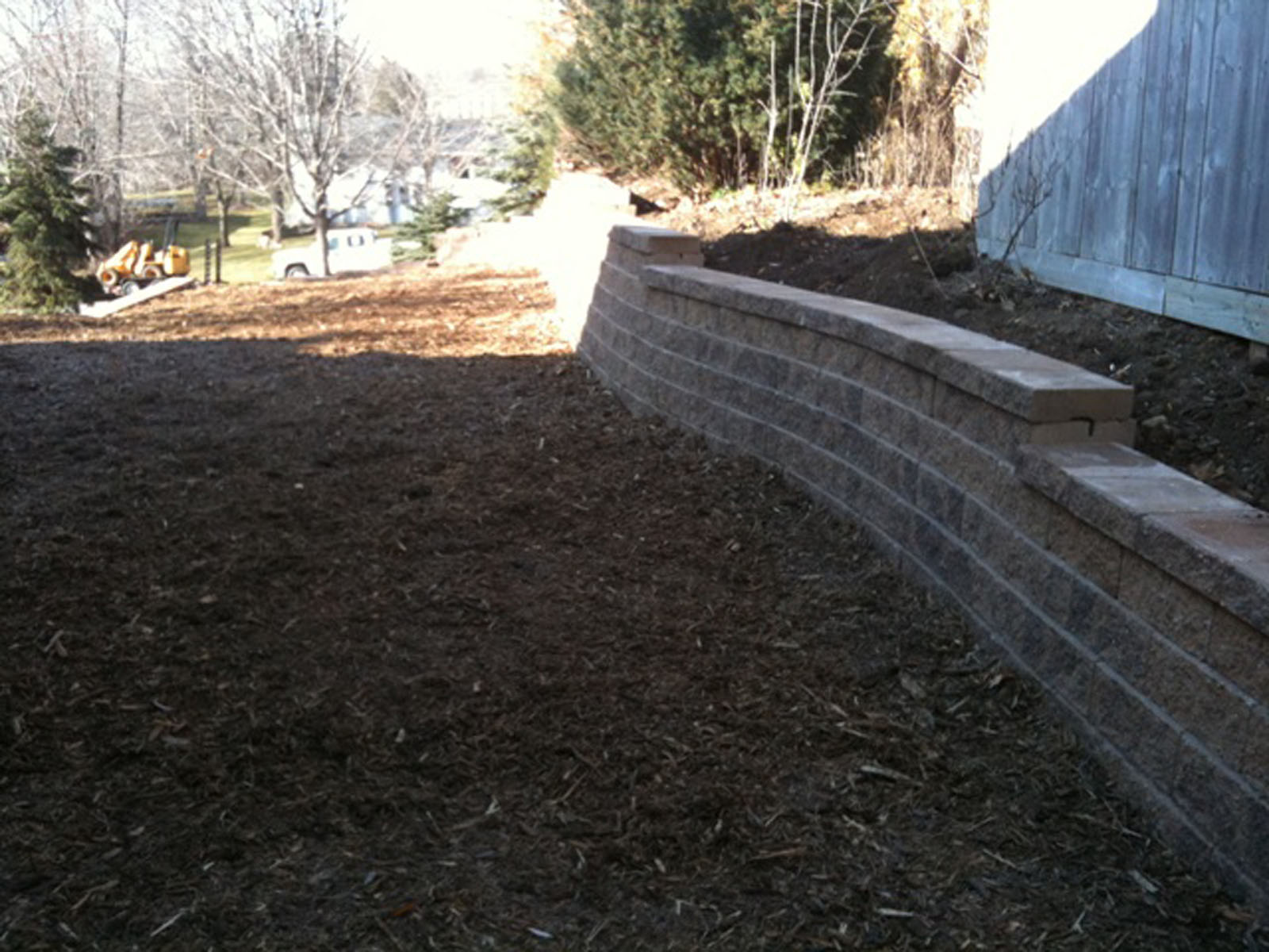 Minnetonka Front Retaining Wall After