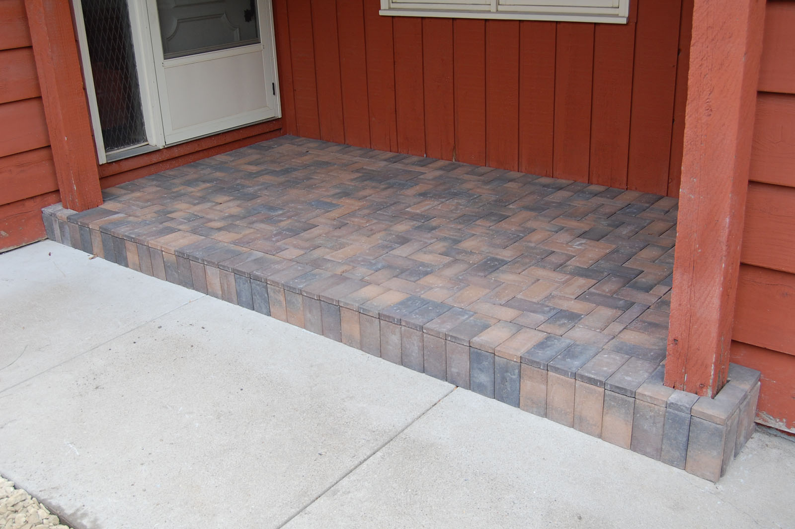 Front Entry Capped with Pavers Eden Prairie