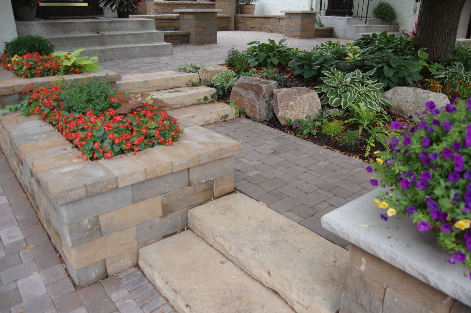 Steps and Planters Edina